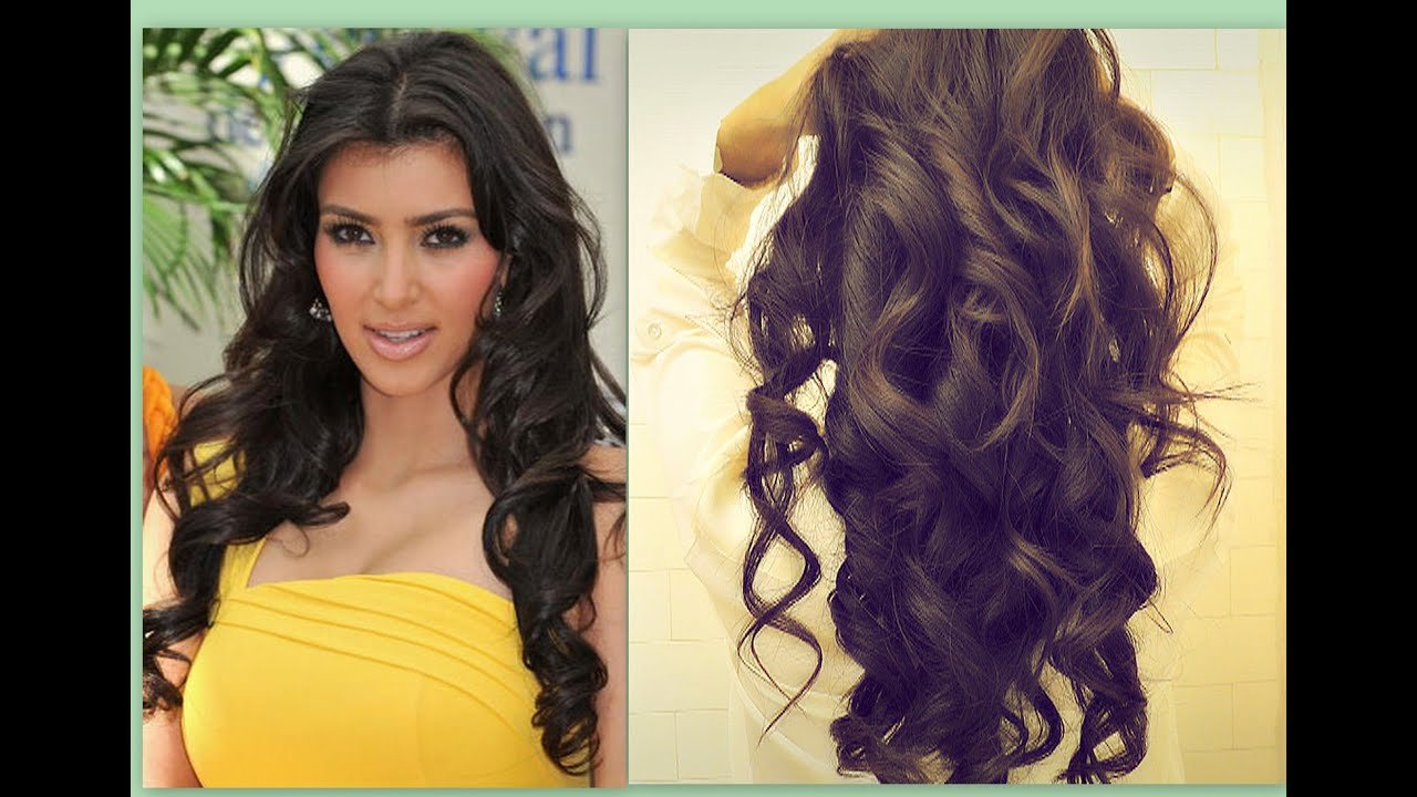 New Kim Kardashian Hair Tutorial How To Curl Long Hair Big Ideas With Pictures
