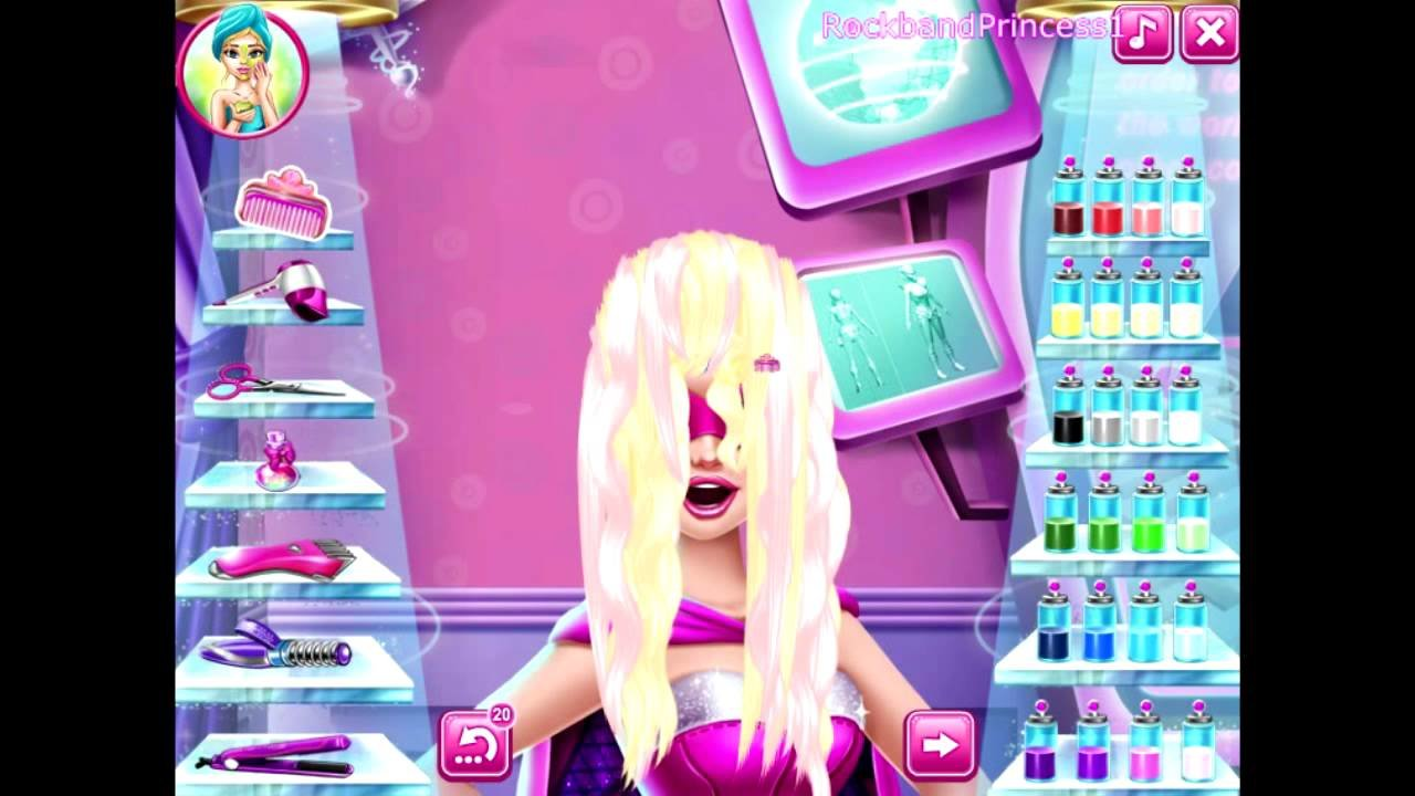 New Barbie Hair Salon Games For Kids Youtube Ideas With Pictures Original 1024 x 768