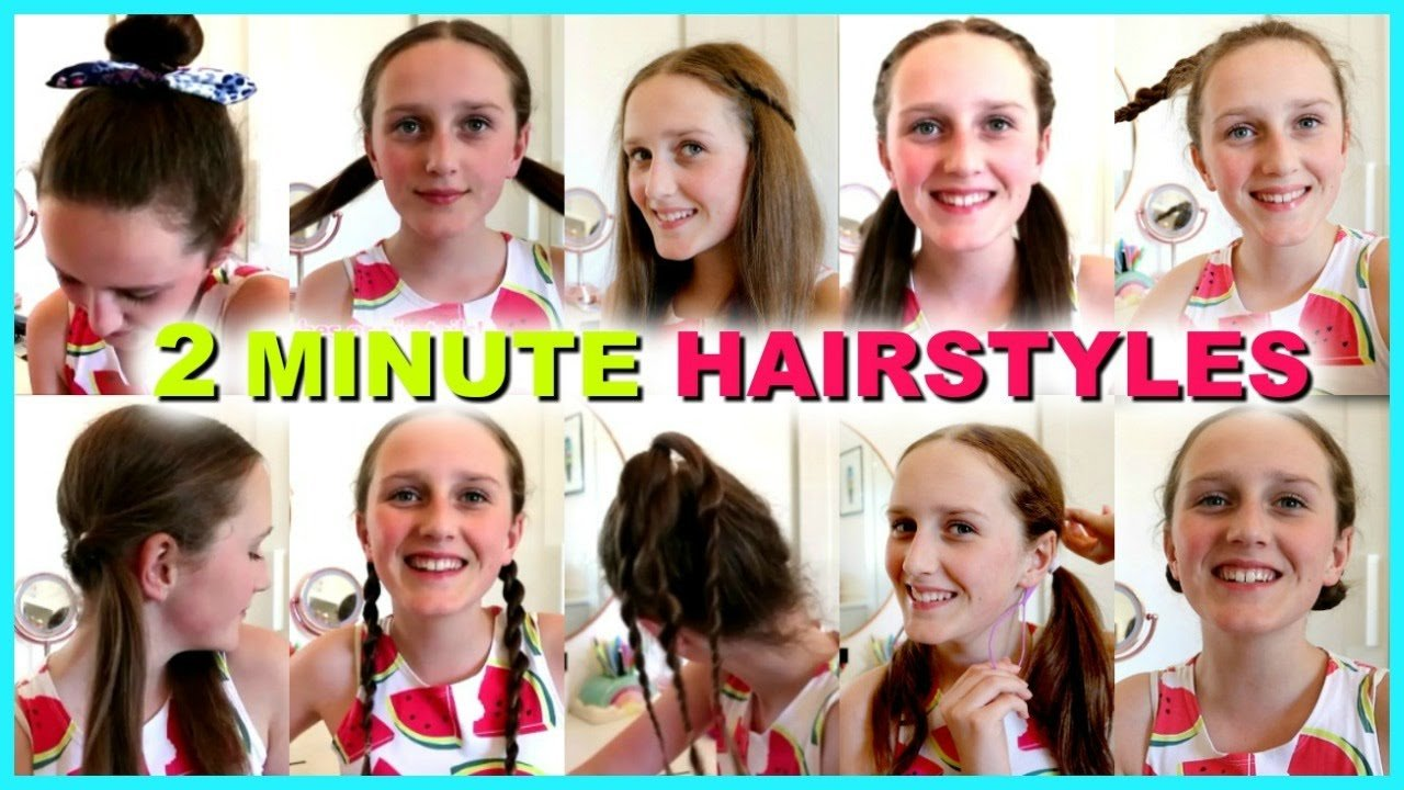 New 10 Easy 2 Minute Hairstyles Quick And Easy Hairstyles Ideas With Pictures