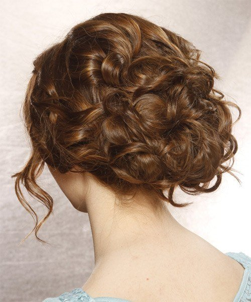 New Formal Long Curly Updo Hairstyle With Side Swept Bangs Ideas With Pictures