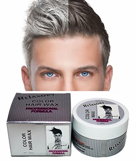 New Relaxory Temporary Color Hair Wax Molding Clay Gery White Ideas With Pictures