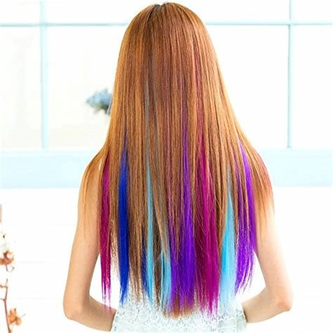 New Onedor 23 Inch Colored Party Highlights Straight Hair Clip Ideas With Pictures