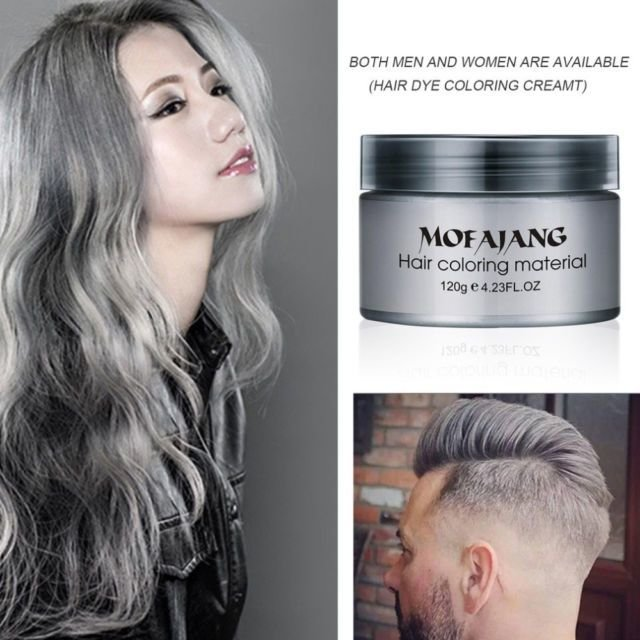 New Mofajang Dye Unisex Grey Hair Color Mud Wax Molding Silver Ideas With Pictures
