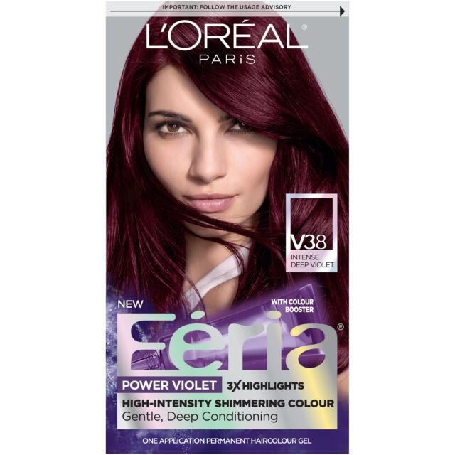 New Loreal Paris Feria Hair Color V38 Intense Deep Violet For Ideas With Pictures