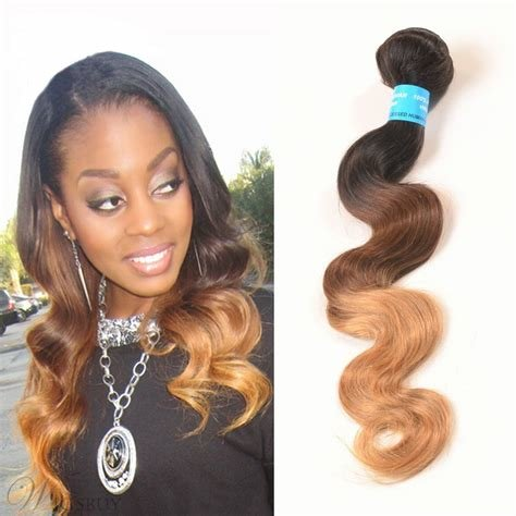 New 1B 33 27 3 Tone Ombre V*Rg*N Human Hair Body Wave Weave 1 Ideas With Pictures