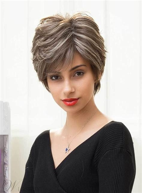 New Mishair® Short Straight Color Mixture Human Hair Capless Ideas With Pictures