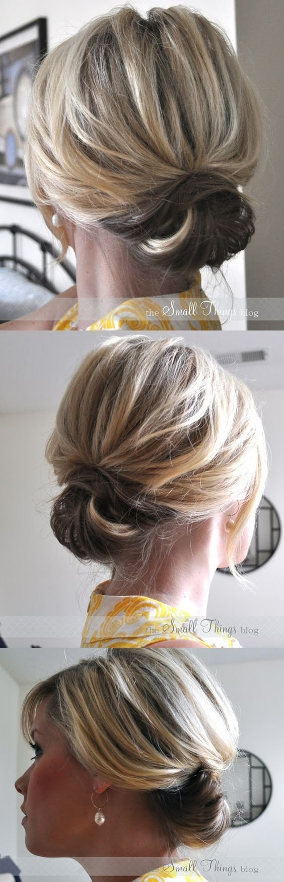 New Diy Hairstyle Chic Up Do For Short Hair Step By Step Video Tutorial ♥ Diy Hairstyles Ideas With Pictures