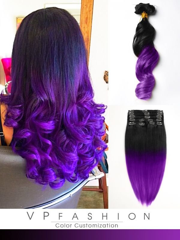 New Black To Dark Purple Mermaid Colorful Ombre Indian Remy Ideas With Pictures