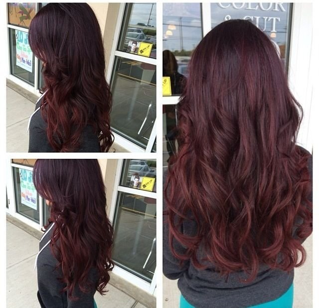 New Ombre Violet Red Purple Hair Beauty Pinterest My Ideas With Pictures