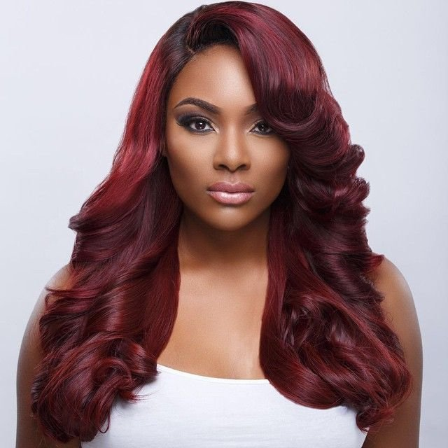New Red Hair On Dark Skin Black Women Google Search Hair Makeup Pinterest Prince Colors And Ideas With Pictures