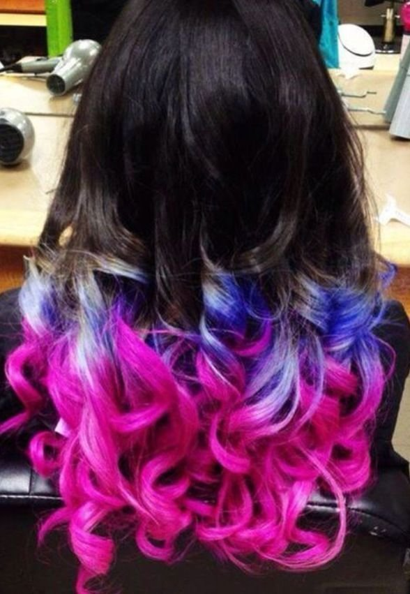 New Dip Dye Pink Blue Hair Different Hair Colors Hair Ideas With Pictures