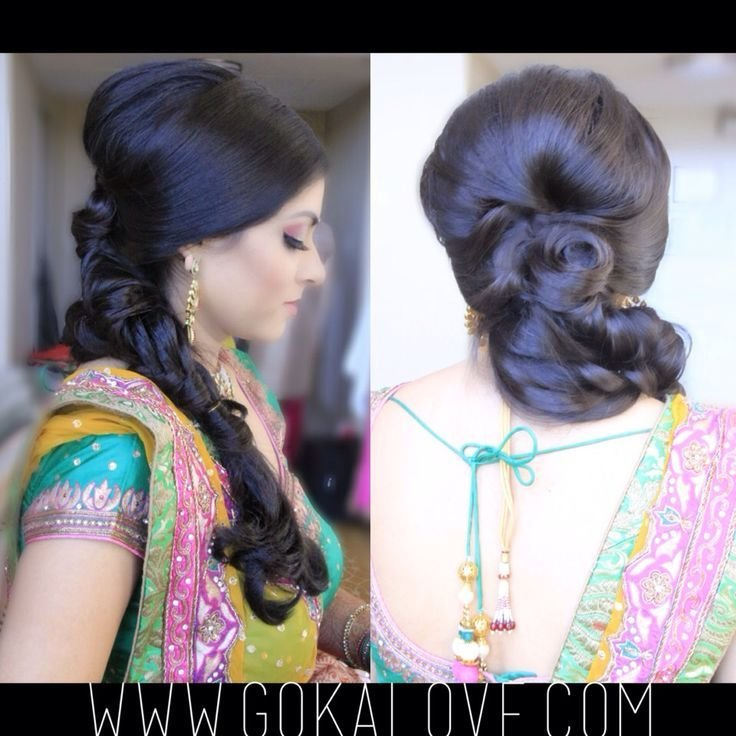 New Hairstyle For A Garba Loose Fishtail Braid Indian Ideas With Pictures
