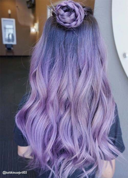 New 50 Lovely Purple Lavender Hair Colors In Balayage And Ideas With Pictures