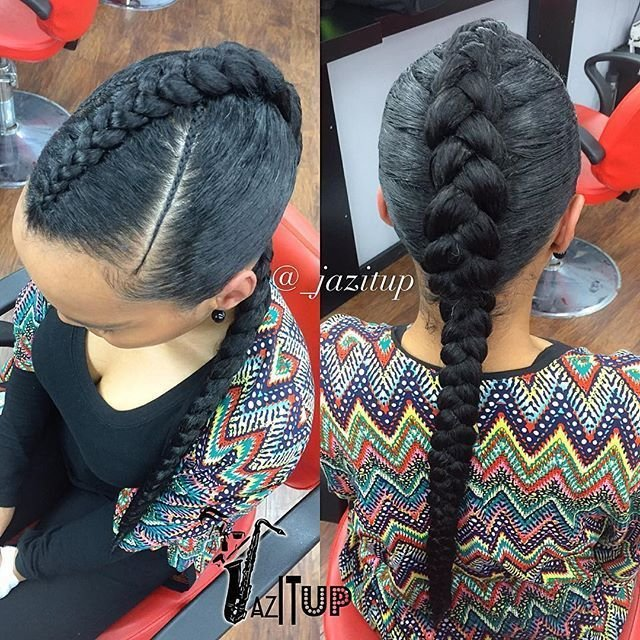 New Cute And Simple ☺️ One Large Feed In Braid Jazituphair Jazitupbraids Call And… Hair Options Ideas With Pictures