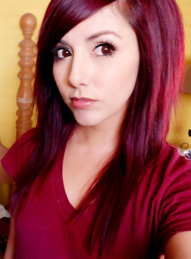 New Deep Red Hair Technicolor My Hair Color How To Get Dark Red Hair Dyed Hair Pinterest Ideas With Pictures
