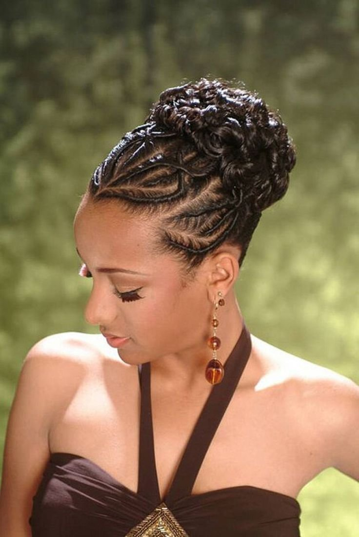 New African American French Braid Updo Hairstyles Hair Ideas With Pictures Original 1024 x 768