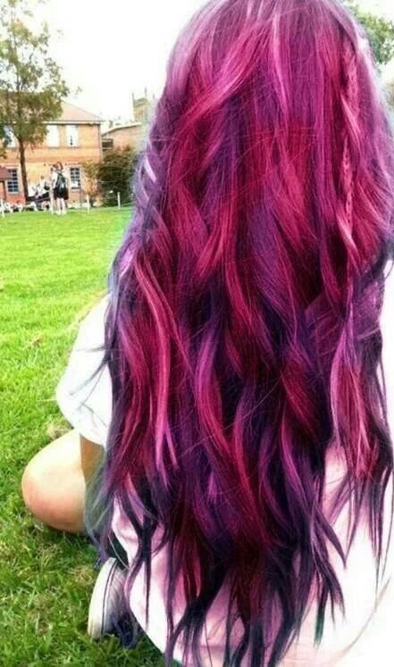New Red Pink Purple Black Hair Color Hair Ideas Pinterest Ideas With Pictures