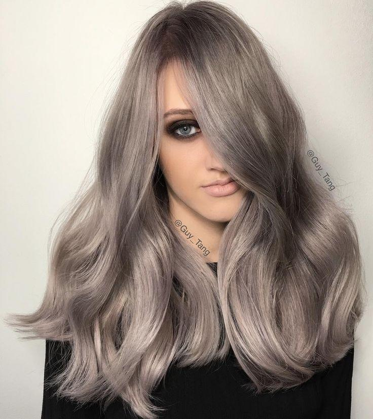 New Silver Metallics Using Kenra By Guy Tang Balayage Ombre Ideas With Pictures