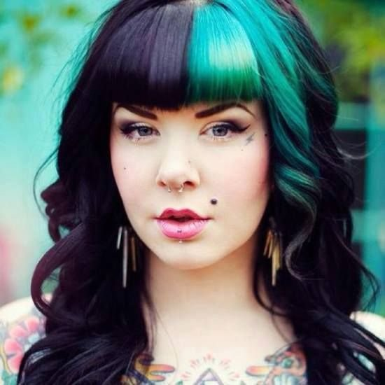 New Hair Love Black Teal Blue Aqua Green Bangs Curls Ideas With Pictures