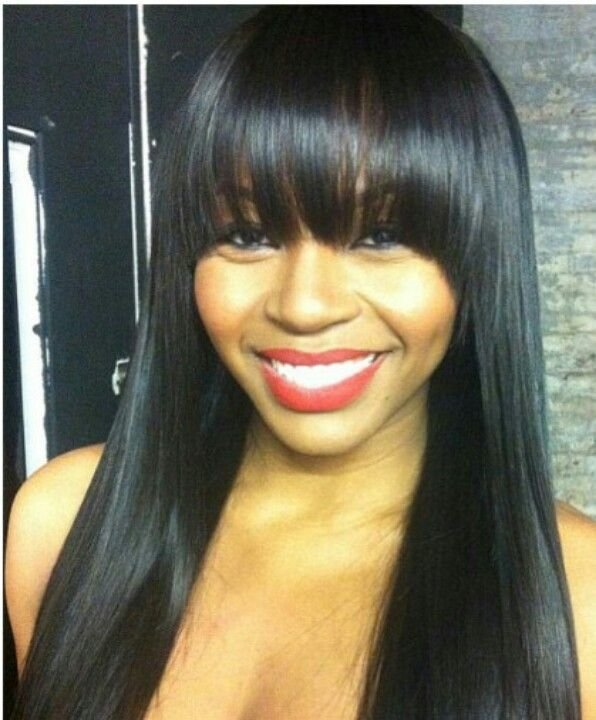 New 1 Bundle 7A Brazilian V*Rg*N Hair Silky Straight Wavy Straight Hair Bangs And Hair Style Ideas With Pictures