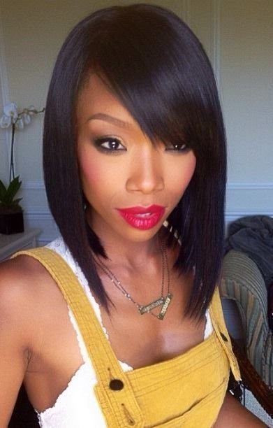 New Black Bob Hairstyles On Pinterest Quick Weave U Part Ideas With Pictures