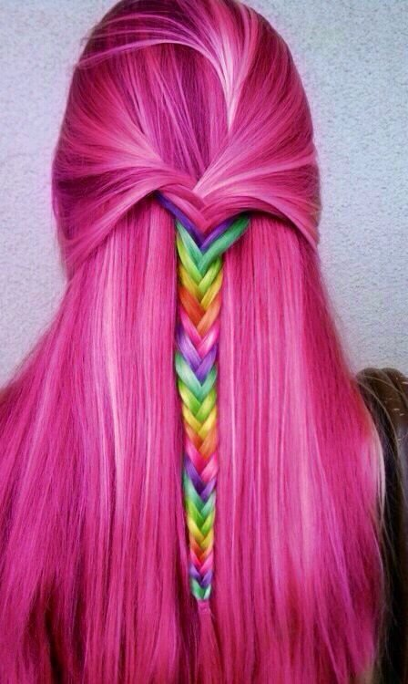 New Rainbow Dyed Hair On Pinterest Short Rainbow Hair Ideas With Pictures