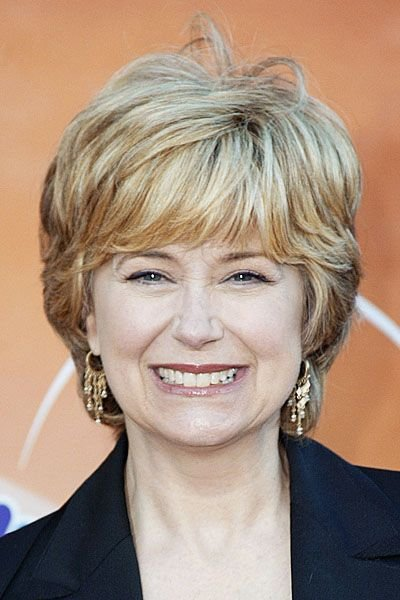 New Jane Pauley In Classic Short Haircut With Full Fringe And Light Red Haircolor Beautiful Ideas With Pictures