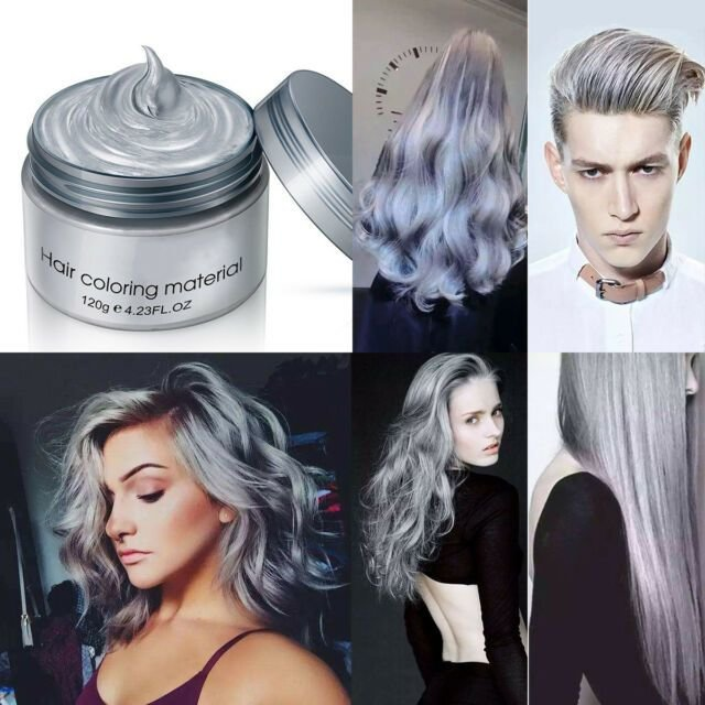 New Grey Silver Unisex Diy Wax Cream Temporary Hair Dye Colour Ideas With Pictures