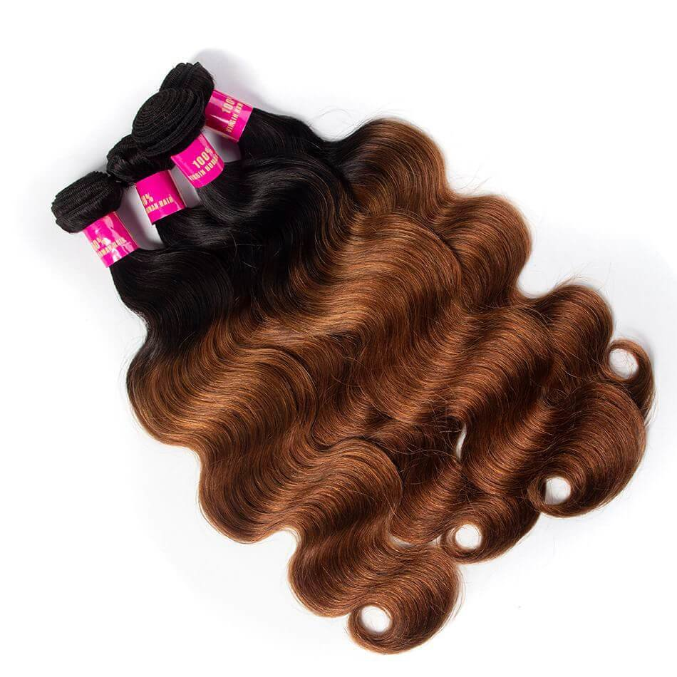 New Ombre Hair 1B 30 Color Brazilian Body Wave 3 Bundles Brown Ideas With Pictures
