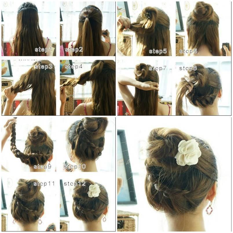 New How To Make Beautiful French Braids Updo Hairstyle Ideas With Pictures