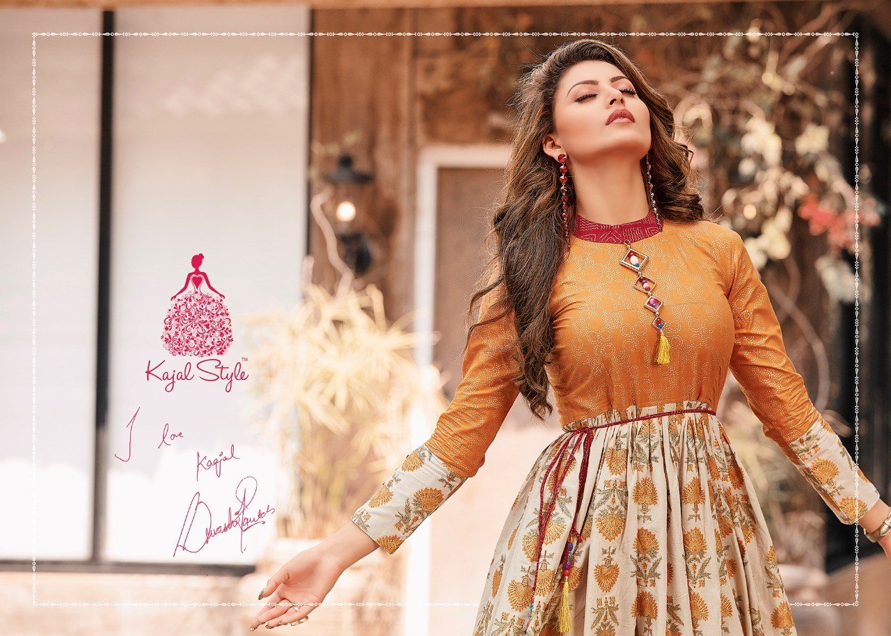 New Kajal Style Mumtaz Vol 1 Loan Cotton Gown Style Kurtis Ideas With Pictures