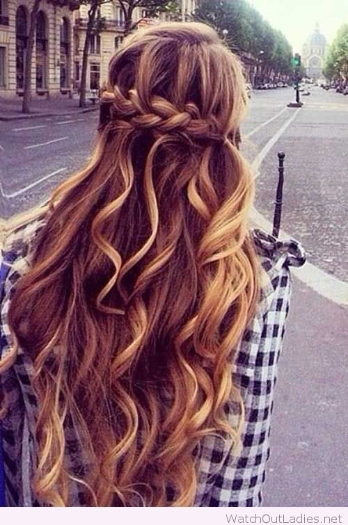 New Pretty Long Hair Half Updos With Curls – Watch Out Ladies Ideas With Pictures
