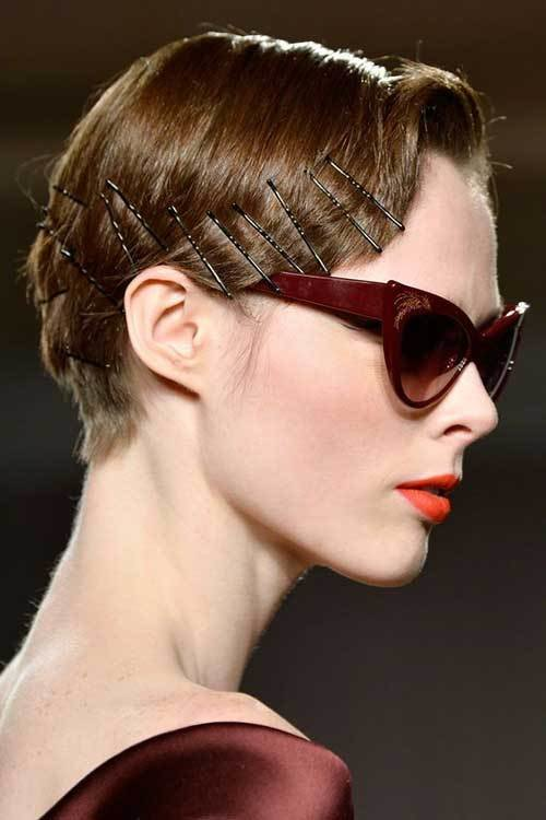 New Adorable Short Hairstyles With Bobby Pins Short Ideas With Pictures