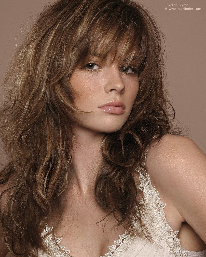 New Long Layered Haircut With Highlights And Styled With Ruffing Ideas With Pictures
