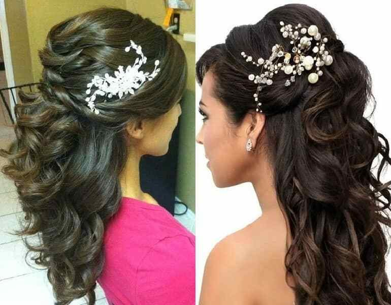 New Tutorial Half Up Half Down Party Hairstyle Indian Ideas With Pictures
