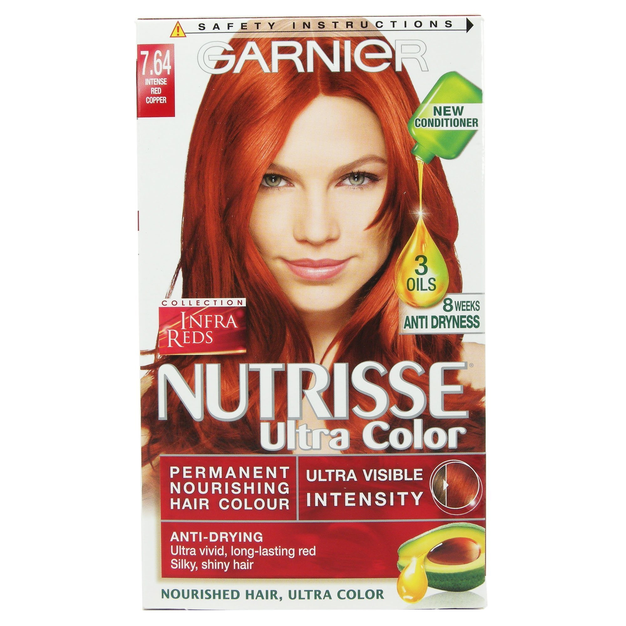 New Garnier Nutrisse Ultra Color 7 64 Intense Copper Red Ebay Ideas With Pictures