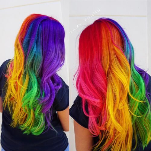 New 28 Cool Rainbow Hair Color Ideas Trending For 2018 Ideas With Pictures