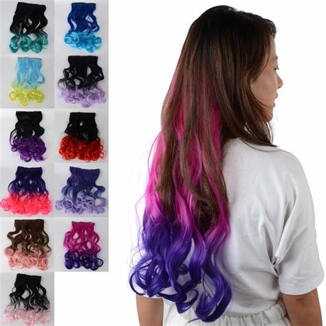 New Curl Long Gradient Hair Ombre Clip In Hair Extensions Ideas With Pictures