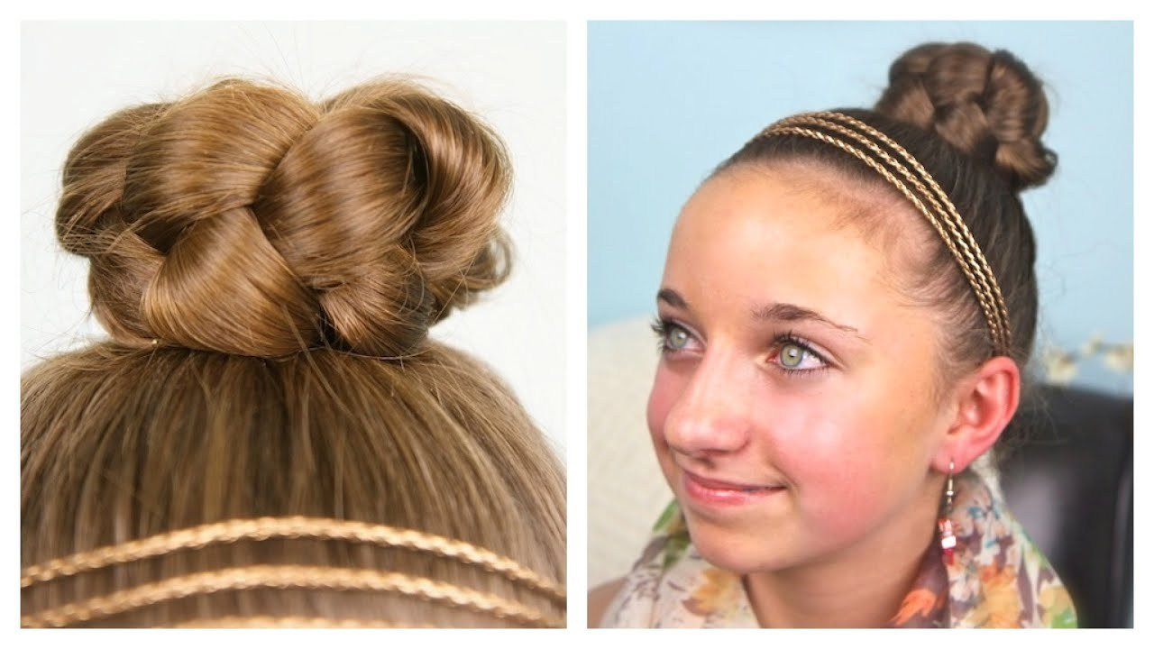 New Simple Braided Bun Updo Cute Girls Hairstyles Youtube Ideas With Pictures