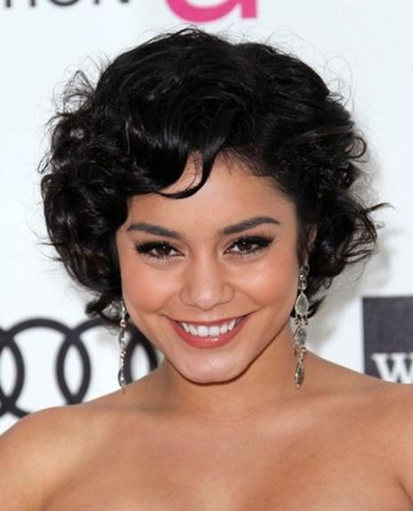 New Vanessa Hudgens Cute Short Curly Hairstyles Popular Haircuts Ideas With Pictures