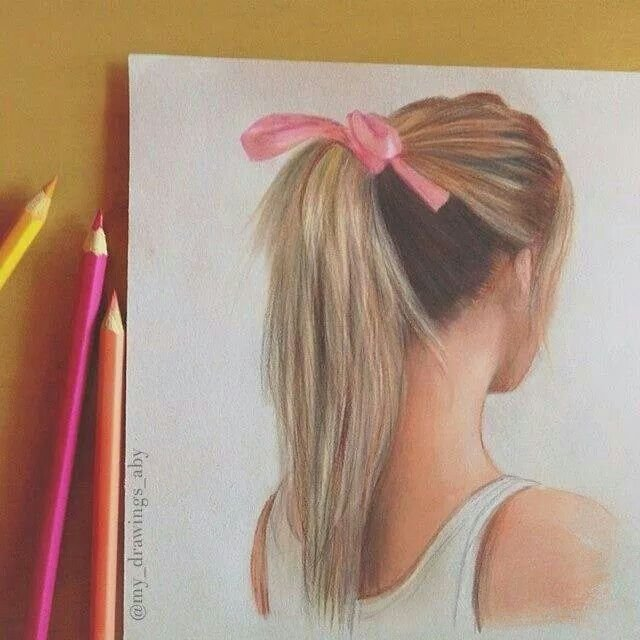 New Girl Hair Colored Pencil Drawing Drawing Pencil Pinterest Ideas With Pictures