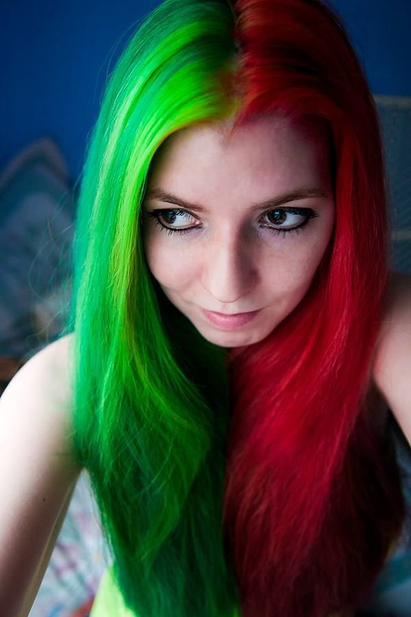 New Hair In Xmas Colors Red Green *Mg Love Beauty Ideas With Pictures