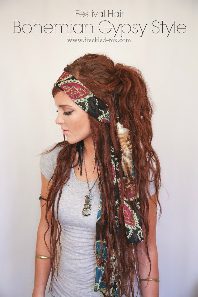 New The Freckled Fox Festival Hair Week Bohemian Gypsy Style Ideas With Pictures