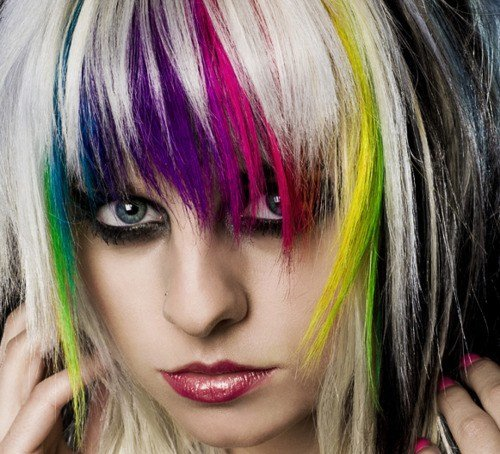 New Blonde With Rainbow Streaks Hair Colors Ideas Ideas With Pictures