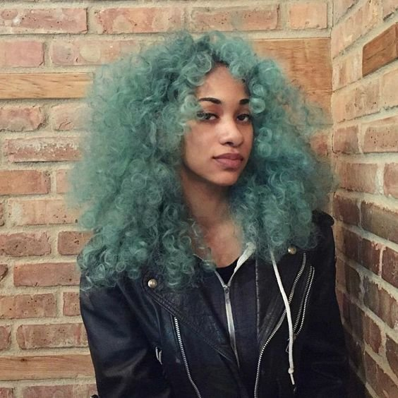 New Natural Curls In Green Hair Colors Ideas Ideas With Pictures