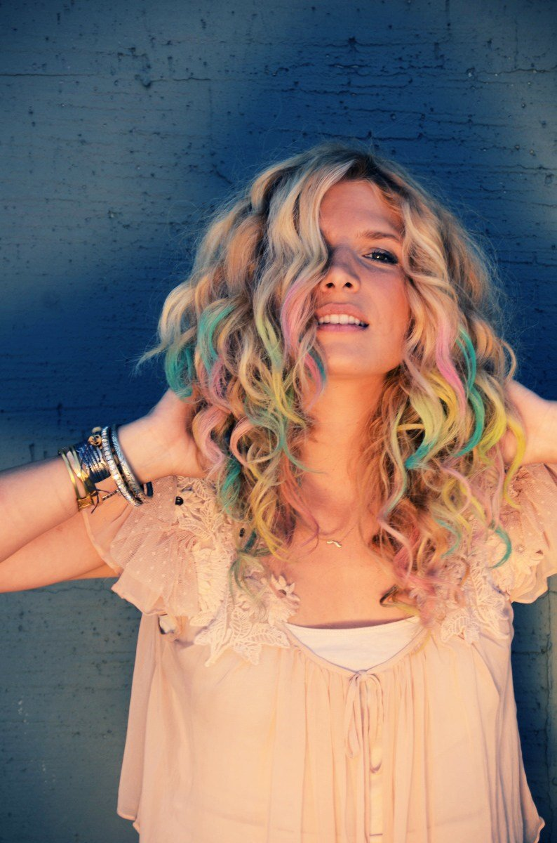 New Diy Colorful Chalk Hair Tips Ideas With Pictures