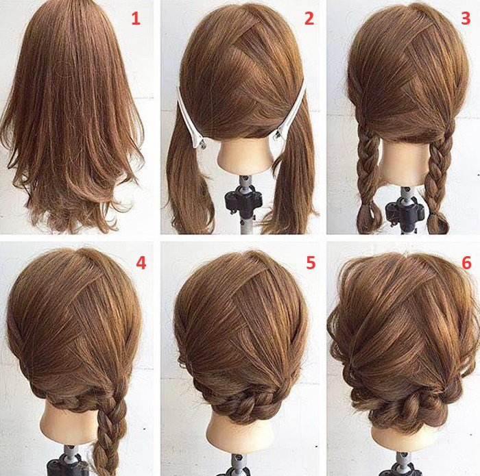 New Easy Step By Step Hairstyles For Medium Hair Ideas With Pictures