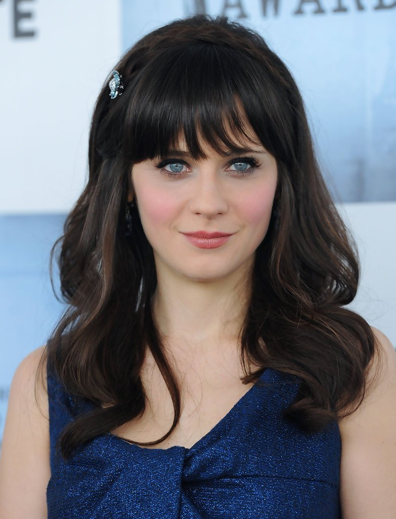 New Zooey Deschanel Medium Curls With Bangs Zooey Deschanel Ideas With Pictures