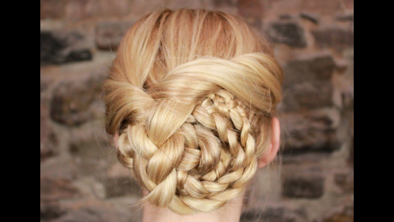 New Easy Braided Updo Tutorial Youtube Ideas With Pictures