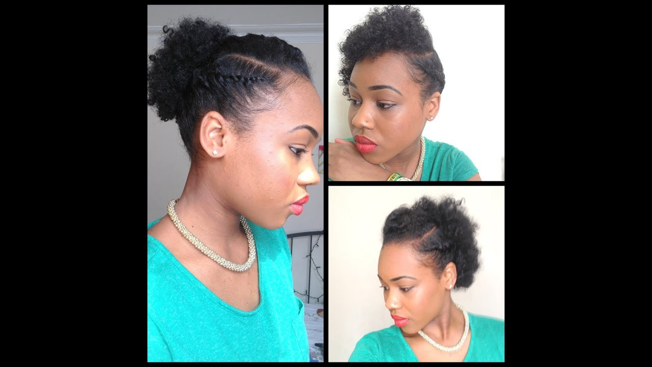 New 32 3 Quick Easy Style For Short Natural Hair Wash And Go 5Th Day Styles Youtube Ideas With Pictures